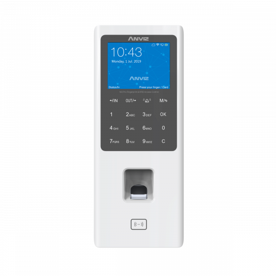 W2%E7%99%BD%E8%89%B2 %E6%AD%A3%E9%9D%A2 Anviz W2 Pro Color Screen Fingerprint & RFID Access Control